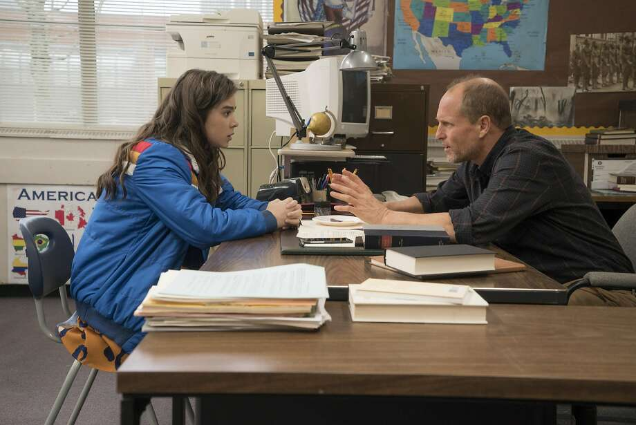 "Hailee Steinfeld (left) and Woody Harrelson in ""The Edge of Seventeen."" Photo: Murray Close, Associated Press"