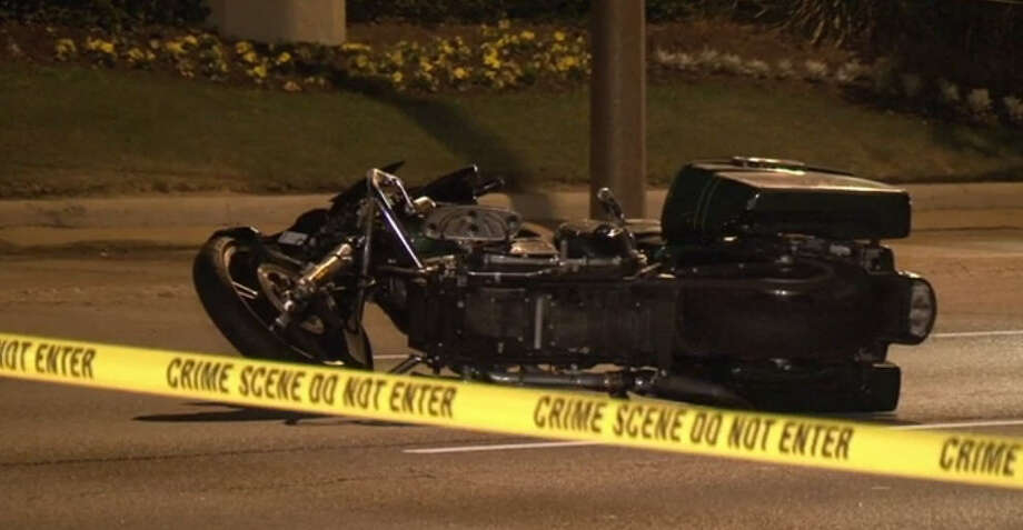 Two pedestrians died about 10:20 p.m. Thursday, Nov. 3, 2016, when a motorcycle hit them in the 5200 block of Seawall Boulevard as they tried to walk across the street. (Metro Video)