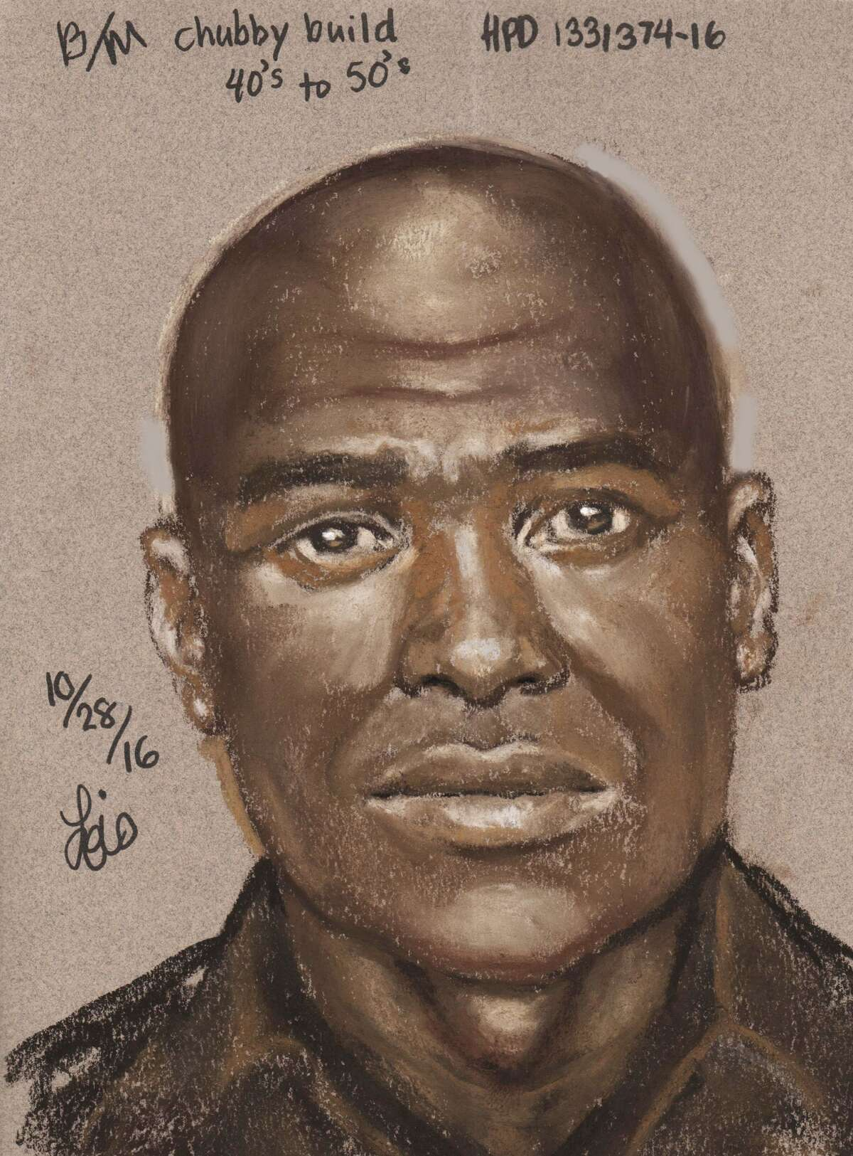 Police have released the sketch of a man suspected in the kidnapping of a 13-year-old boy about 8:15 a.m. Oct. 18, 2016,  in the 7600 block of Tidwell in northwest Houston. (HPD)