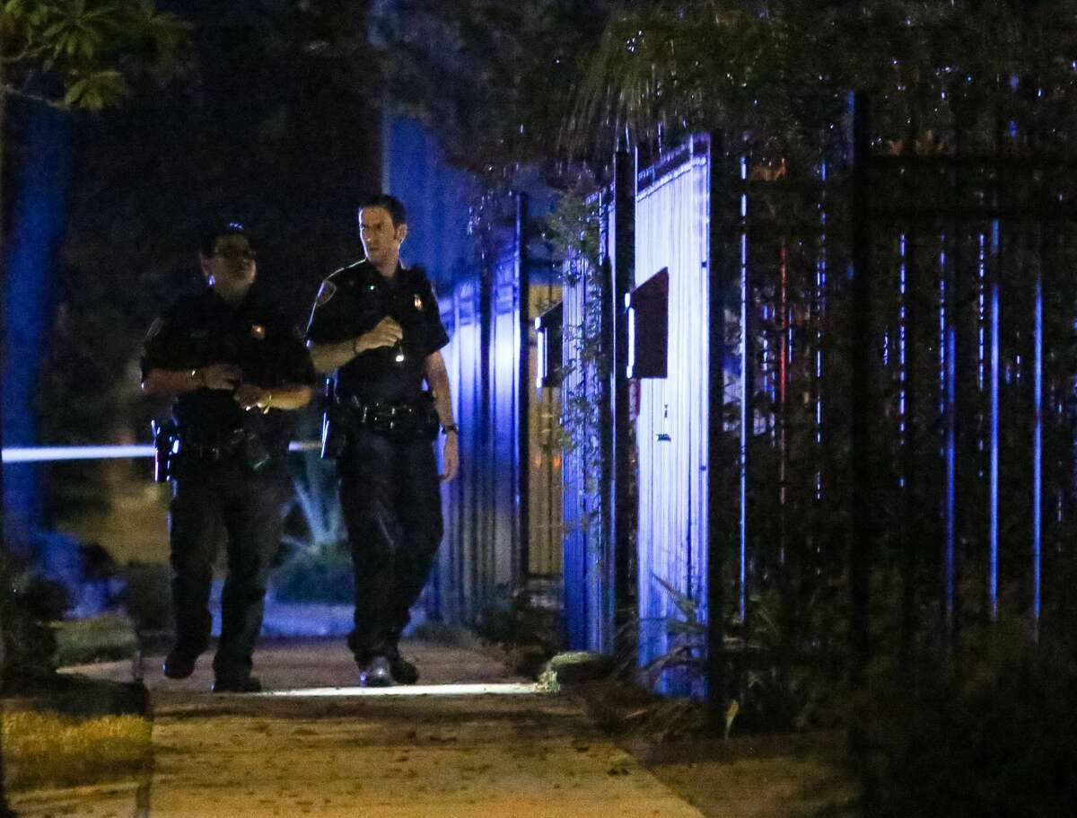 Police investigate a scene in the 1200 block of Lovett at the Charity Guild of Catholic Women, Friday, Nov. 4, 2016, in Houston, Texas.