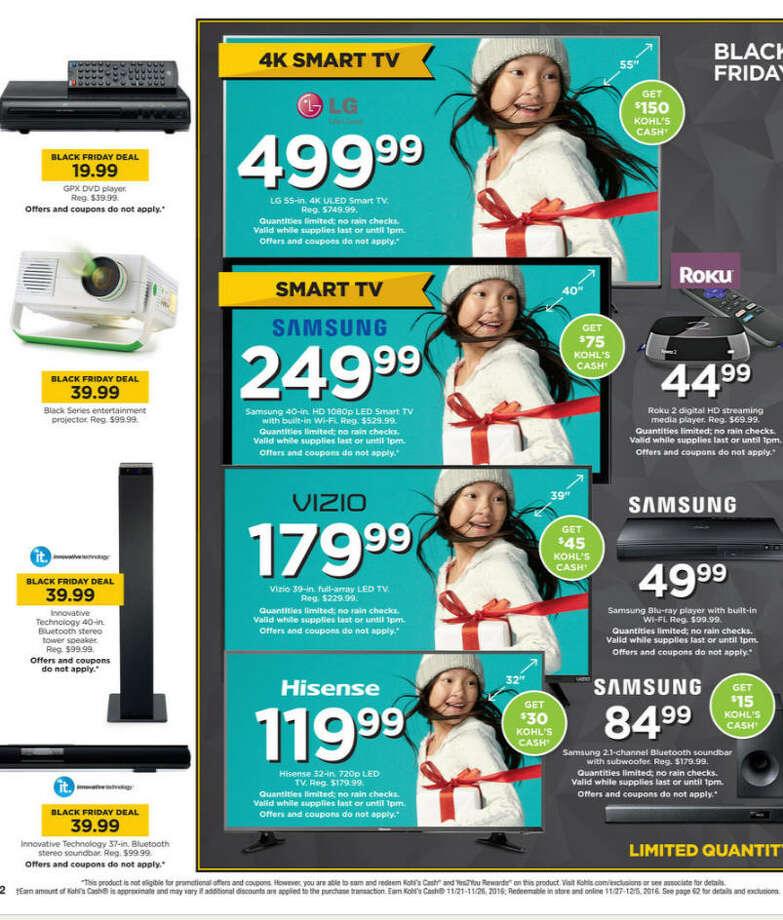"""HDTV Deals:Good: Kohl's - Haier 49"""" 4K UHD TV $249.99 (+$75 Kohl's Cash) Photo: Kohl's"""