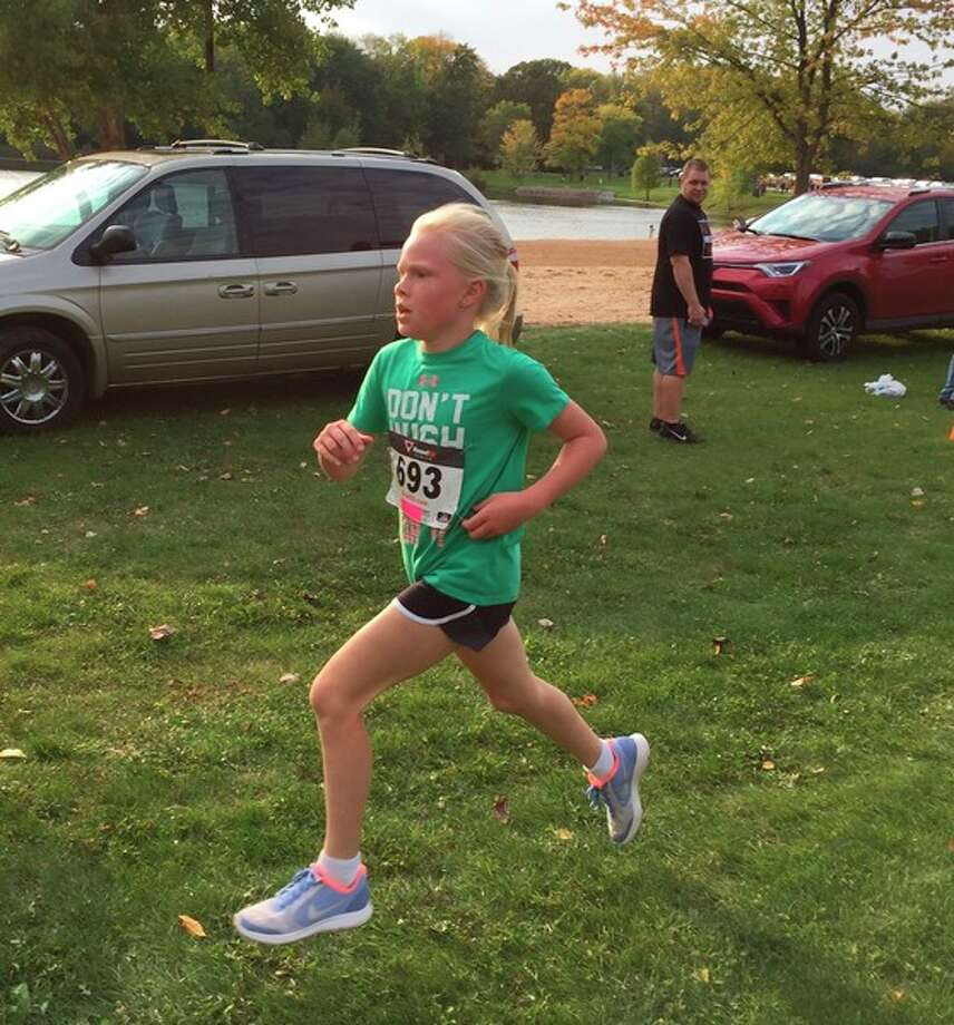 Fourth and fifth grade students from Midland Public and Parochial Schools participate in this year's MPS Fun Run on Oct. 7.