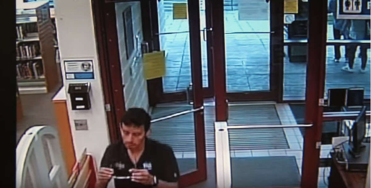 Surveillance images of a possible suspect in an alleged sexual assault of a boy, 10, about 3:30 p.m. Aug. 24, 2016, in a public library in he 11300 block of Airline Drive in north Houston. (HPD)