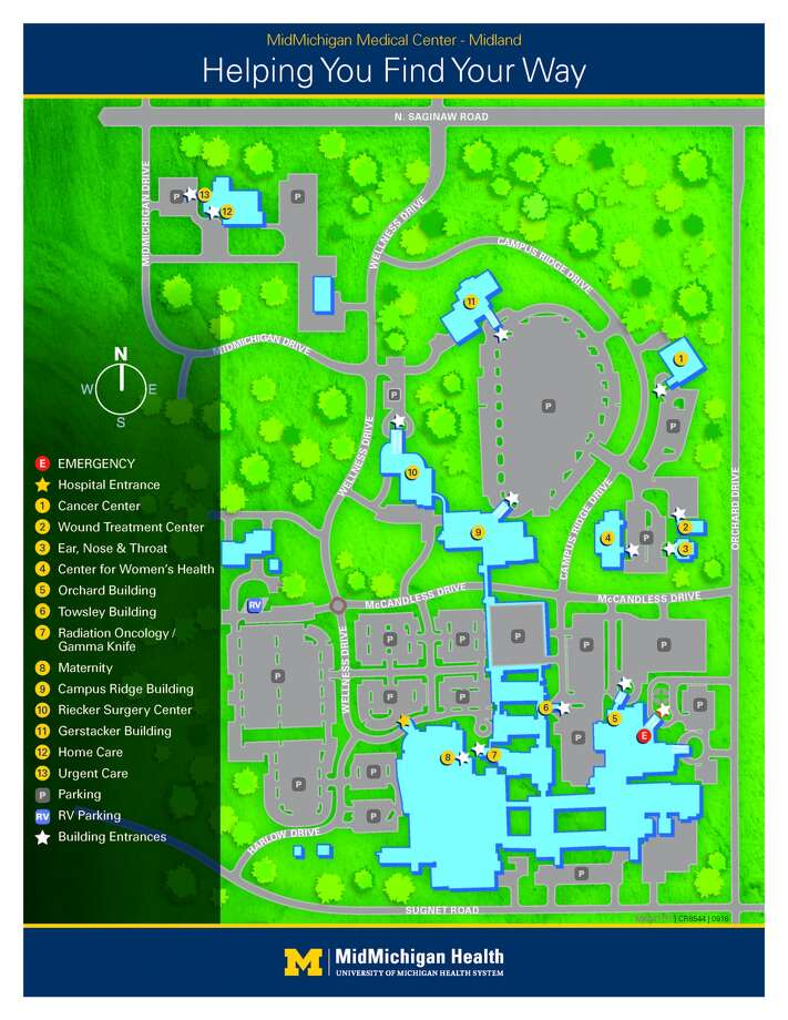 MidMichigan Medical Center-Midland has provided this updated campus map with new building names and street addresses.