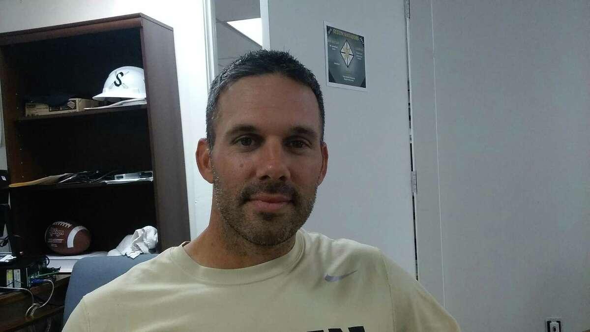 Seguin High School football coach Travis Bush in 2016.