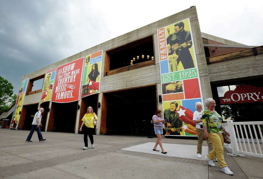 Visitors walk outside the Grand Ole Opry House in Nashville, Tenn. Visitors walk outside the Grand Ole Opry House in Nashville, Tenn. Photo: Mark Humphrey, STF / Copyright 2016 The Associated Press. All rights reserved.