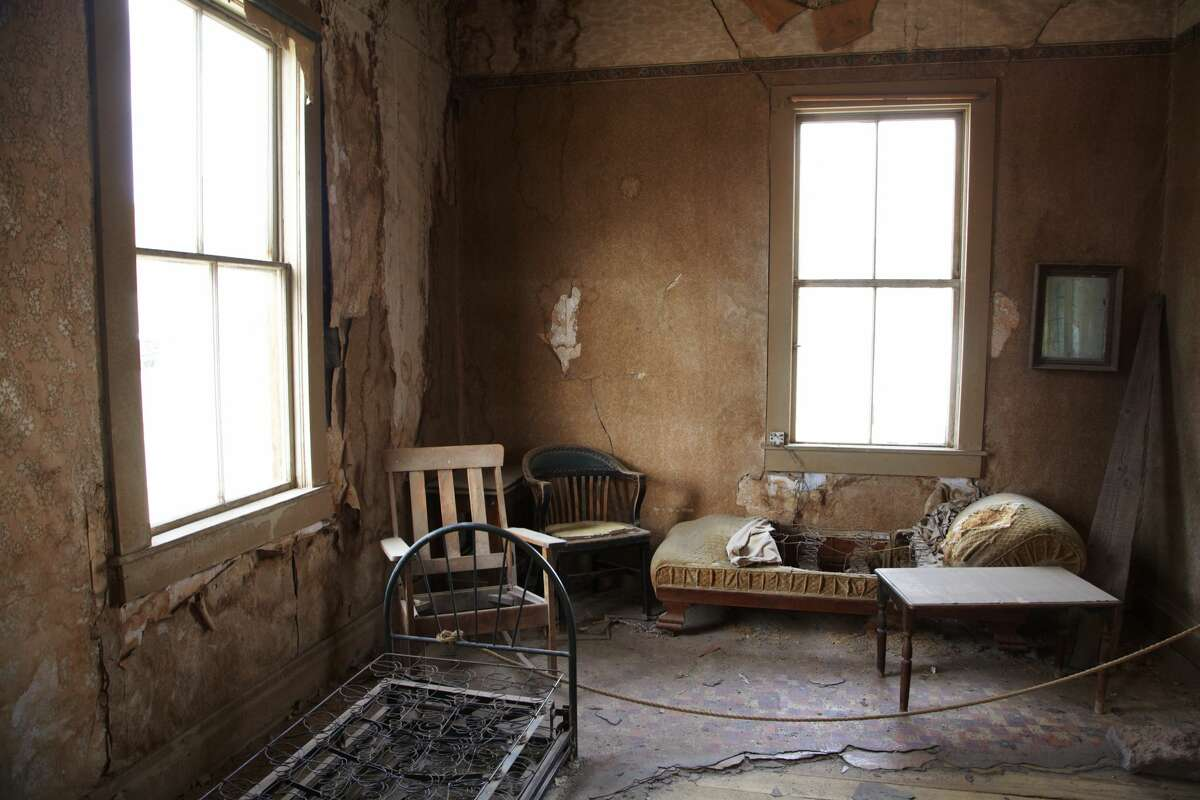 A look inside one of the abandoned building in Bodie, California.