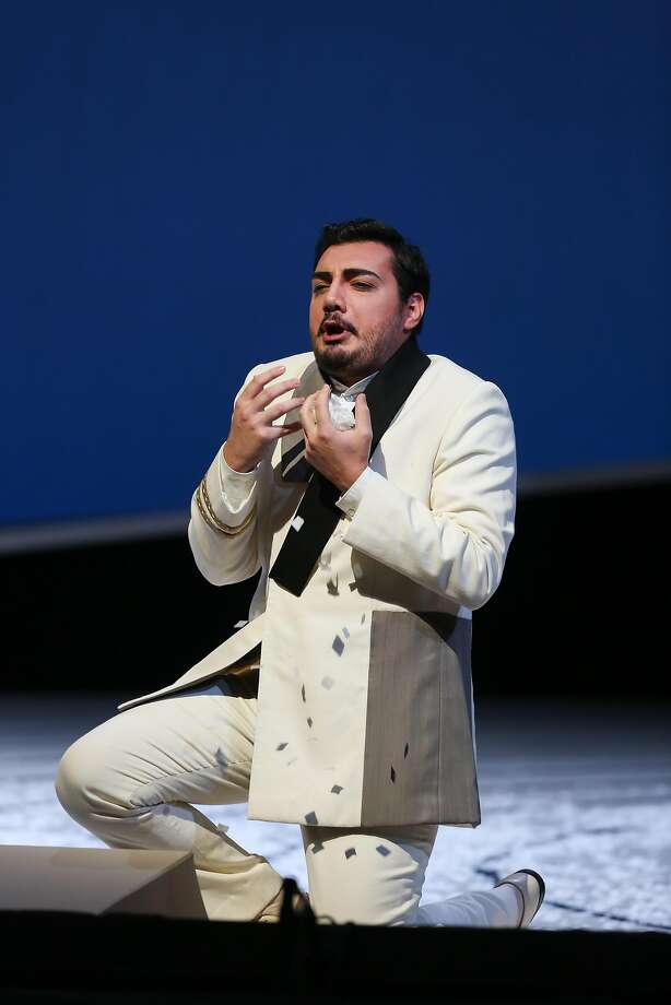 "Vincenzo Costanzo as Lt. B. F. Pinkerton in SF Opera's final dress rehearsal of Puccini's ""Madama Butterfly"" on Thursday, Oct 3, 2016 in San Francisco, Calif. Photo: Amy Osborne, Special To The Chronicle"