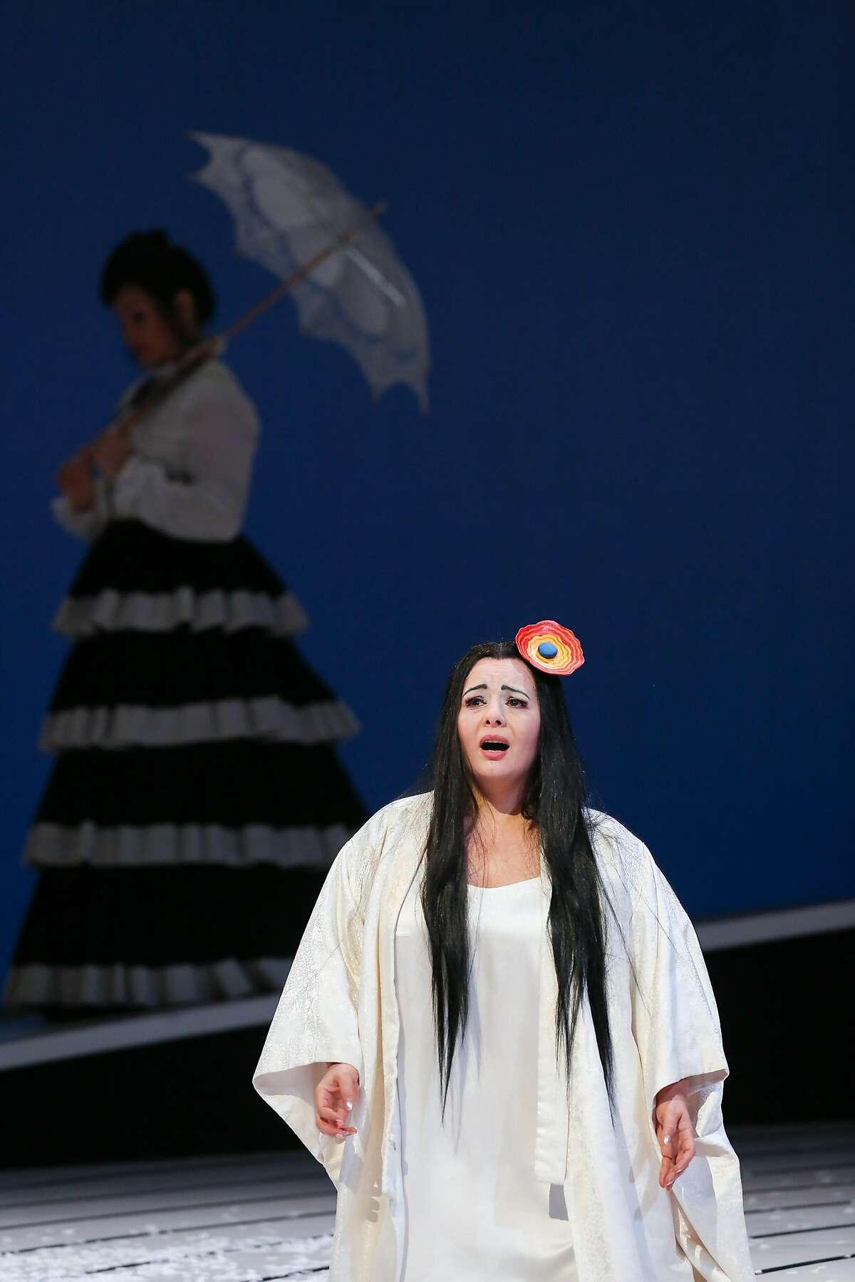 "Lianna Haroutounian as Cio-Cio-San in SF Opera's final dress rehearsal of Puccini's ""Madama Butterfly"" on Thursday, Oct 3, 2016 in San Francisco, Calif."