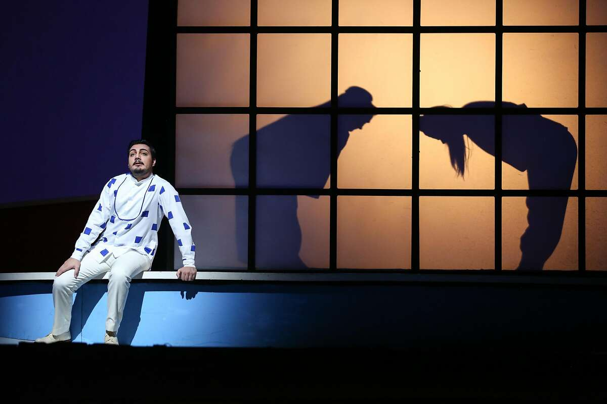 """Vincenzo Costanzo as Lt. B. F. Pinkerton in SF Opera's final dress rehearsal of Puccini's """"Madama Butterfly"""" on Thursday, Oct 3, 2016 in San Francisco, Calif."""