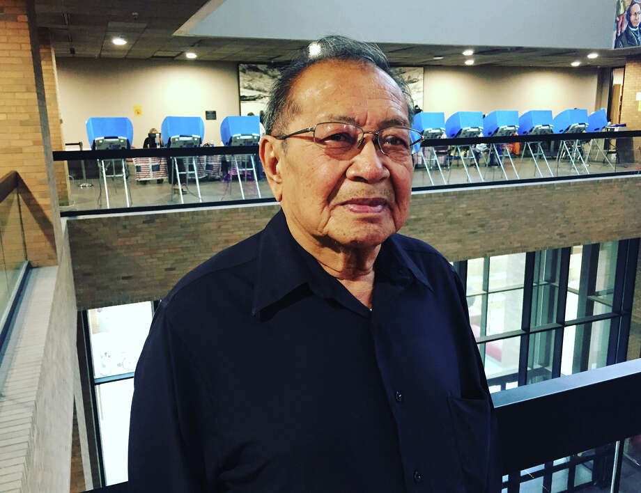Leonardo Wong, 71, voted for the first time in his life on Thursday in El Paso, Texas. MUST CREDIT: David Weigel, The Washington Post. Photo: David Weigel / The Washington Post