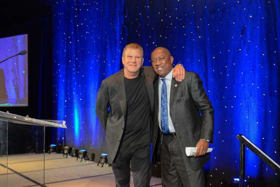 Tilman Fertitta and Mayor Sylvester Turner