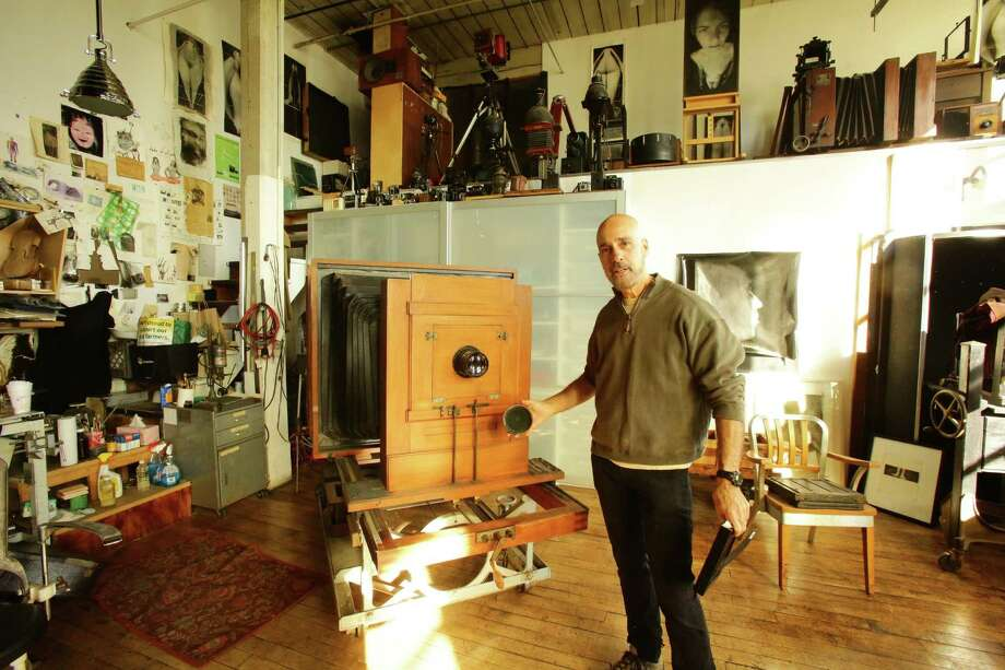 The 8th annual Bridgeport Art Trail takes place Thursday-Sunday, Nov. 10-13, throughout the city. Scores of events, open studios, bike tours, receptions and demonstrations are planned. Above is Tom Mezzanotte, a photographer at the American Fabrics building/art studios. Photo: KVONPHOTOGRAPHY / Contributed Photo
