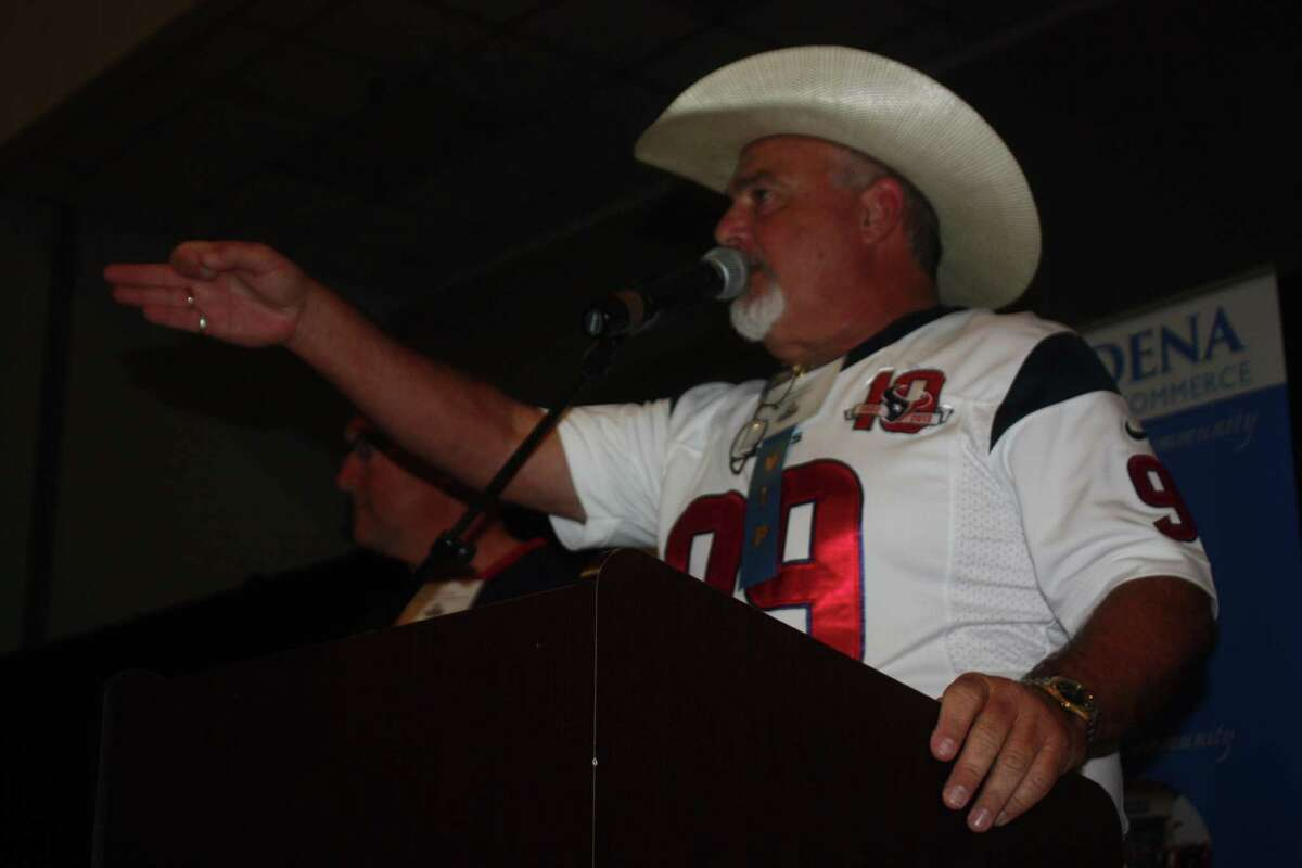 Auctioneer Bear Hebert had to stay on his toes during bidding battles at the auction at the 27th annual Taste of the Town.