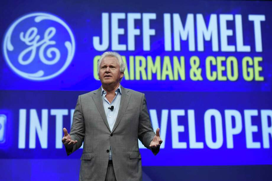 Jeffrey Immelt, chief executive officer of General Electric Co., speaks during a keynote speech at the 2016 Intel Developers Forum in San Francisco, California, on Tuesday, Aug. 16, 2016. Photo: Michael Short / Bloomberg / © 2016 Bloomberg Finance LP