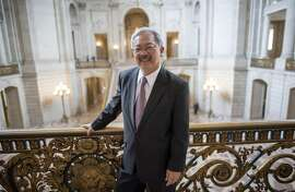 """Edwin """"Ed"""" Lee, mayor of San Francisco, stands for a photograph inside City Hall in San Francisco, California, U.S., on Wednesday, Aug. 17, 2016. Lee is the first Asian American mayor in San Francisco's history, as well as the first Chinese American elected to the office. Photographer: David Paul Morris/Bloomberg"""