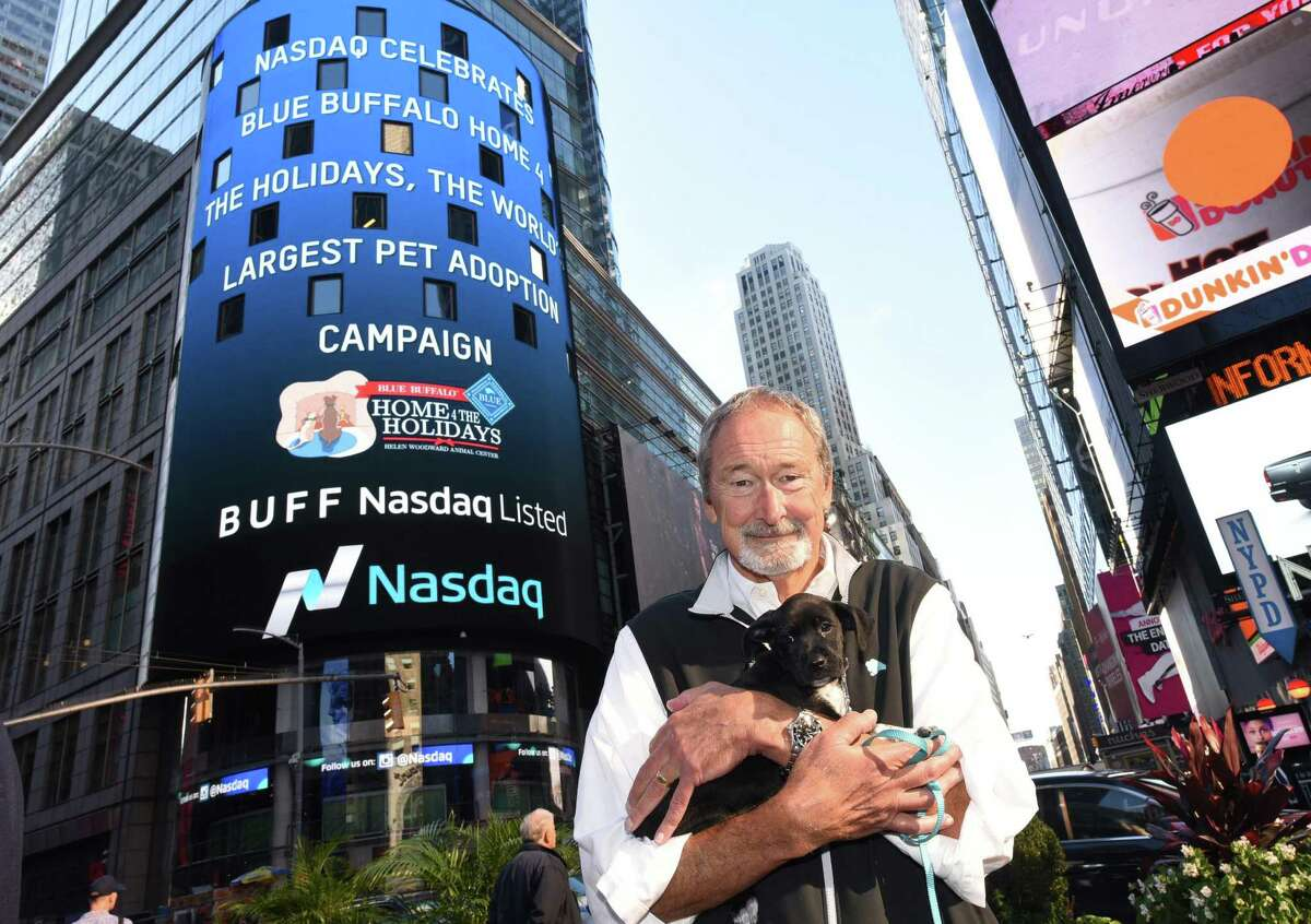 Blue Buffalo Pet Products Chairman Bill Bishop in October 2016 in New York City, marking the launch of his Wilton, Conn.-based company's