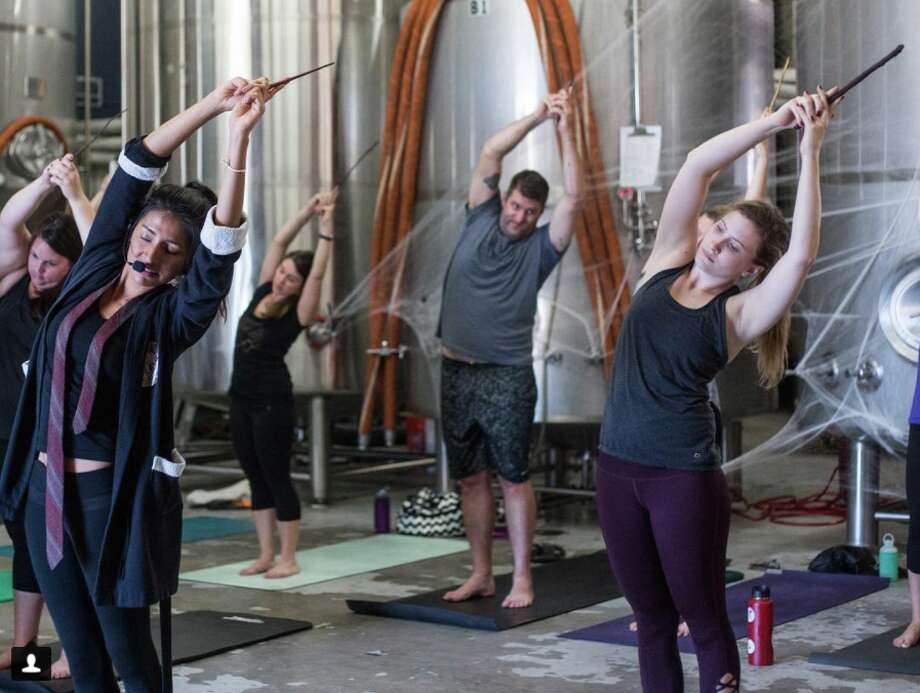 Harry Potter-themed yoga (Photo by Alexa Wagner, courtesy of C1 Revolution)