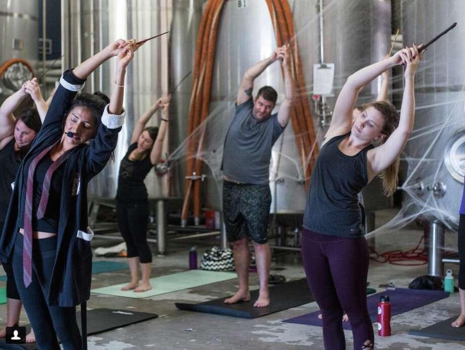 Harry Potter-themed yoga (Photo by Alexa Wagner, courtesy of C1 Revolution)