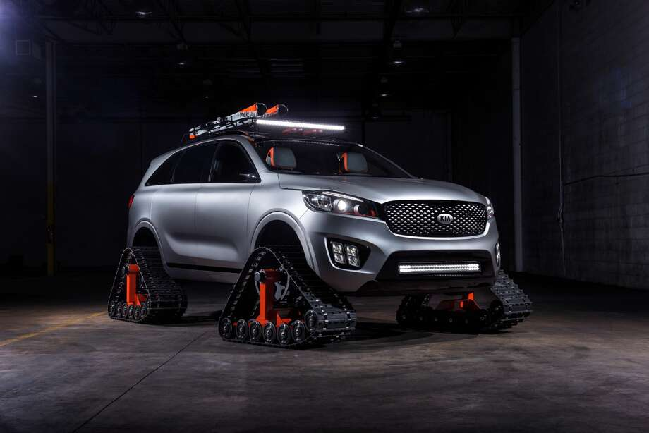 Kia Reveals Vehicle Concept With Tank Style Treads Instead