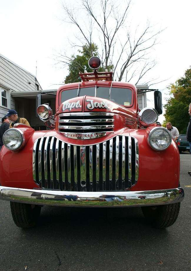 A 1941 GMC pumper is returns home to the Germantown firehouse Saturday after more than 50 years. Photo: /