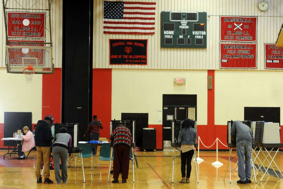 Bridgeport voters who would normally cast their ballots at Central High School will instead have to cast their ballot at Madison School. Photo: Ned Gerard / Hearst Connecticut Media File Photo / Connecticut Post