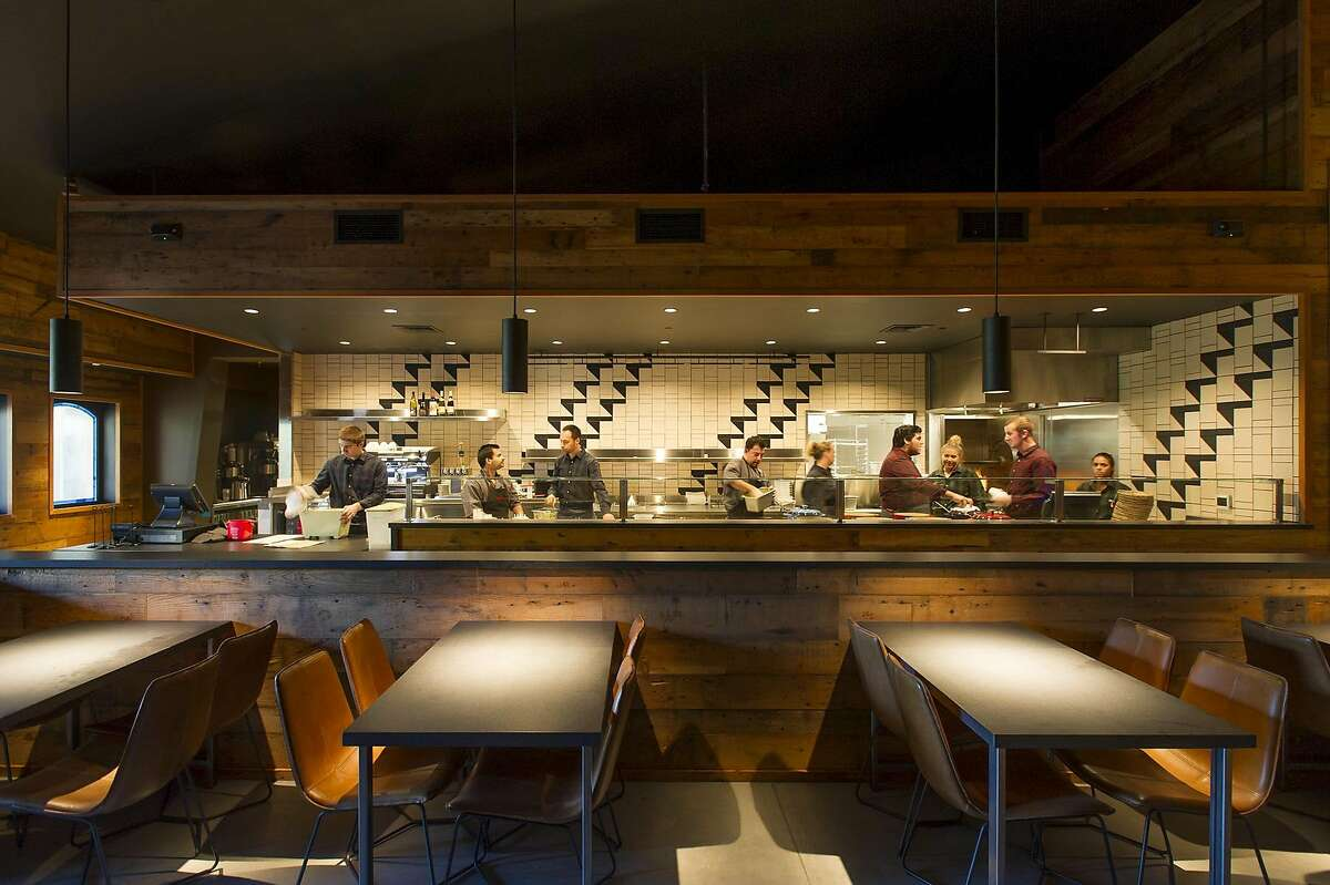 The interior of Werowocomoc, Francis Ford Coppola's new restaurant in Geyserville