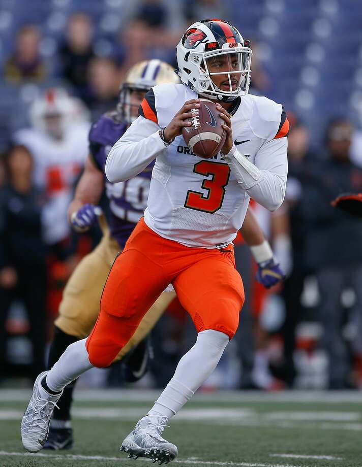 Oregon State's Marcus McMaryion, who will make his third start at quarterback against Stanford, has three touchdowns. Photo: Otto Greule Jr, Getty Images