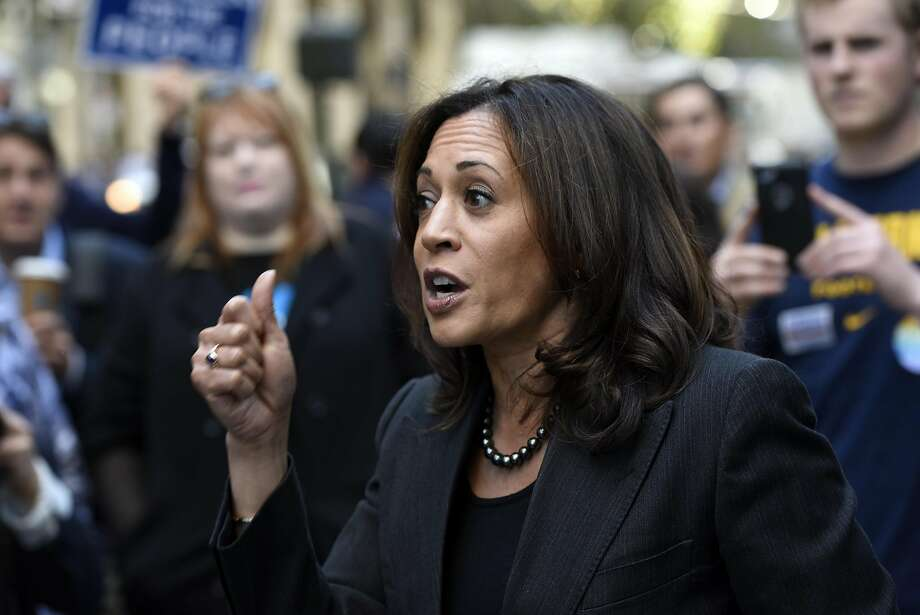California Attorney General Kamala Harris's office reversed direction on Wednesday, Dec. 14, 2016, saying it would not intervene in a lawsuit challenging the fairness of the state's cash-bail system for criminal defendants. Her office said last week it would intervene on the side of the plaintiffs. Harris is leaving office after her election to the U.S. Senate on Nov. 8, 2016. Photo: Michael Short, Special To The Chronicle