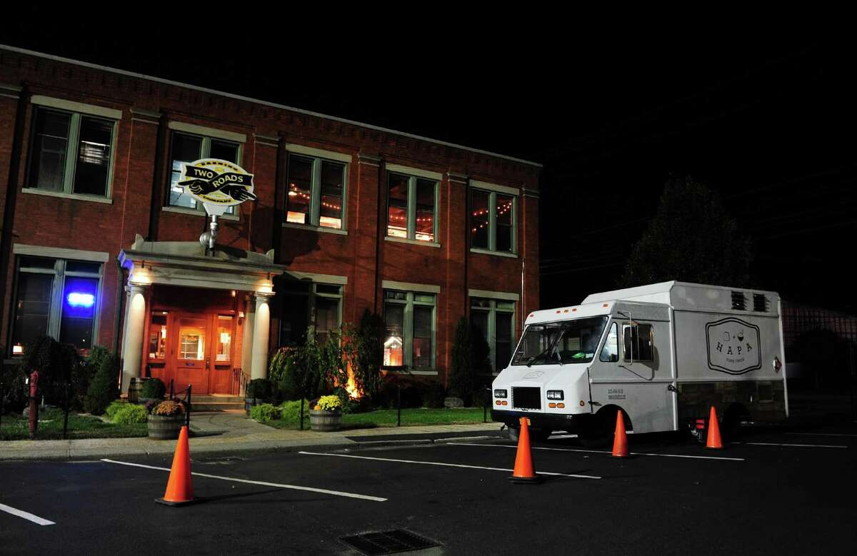 HAPA, a foodtruck based out of Stamford, is setup to sell food at Two Roads Brewery on Stratford Avenue in Stratford, Conn. on Wednesday Nov. 2, 2016. The foodtruck is operated by Chris Gonzalez, and this is his second time setup at the brewery.