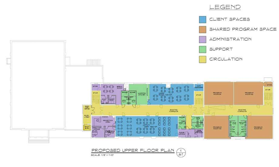 The floor plan fro the proposed adult daycare facility at the Seymour Community Center in Seymour, Conn. Photo: Contributed Photo / Contributed Photo / Connecticut Post Contributed
