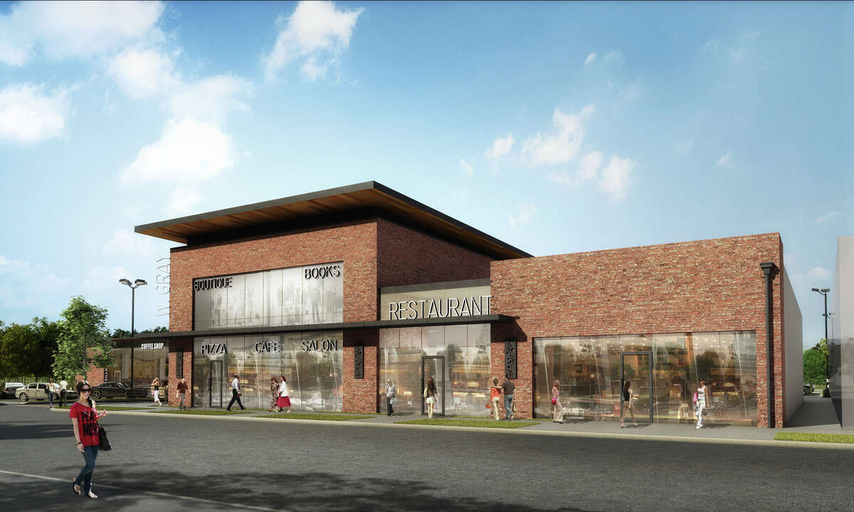 A rendering of River Oaks Collection, a develpment of Braun Enterprises at 1705 W. Gray. Panera Bread has leased 4,308 square feet on the first floor.