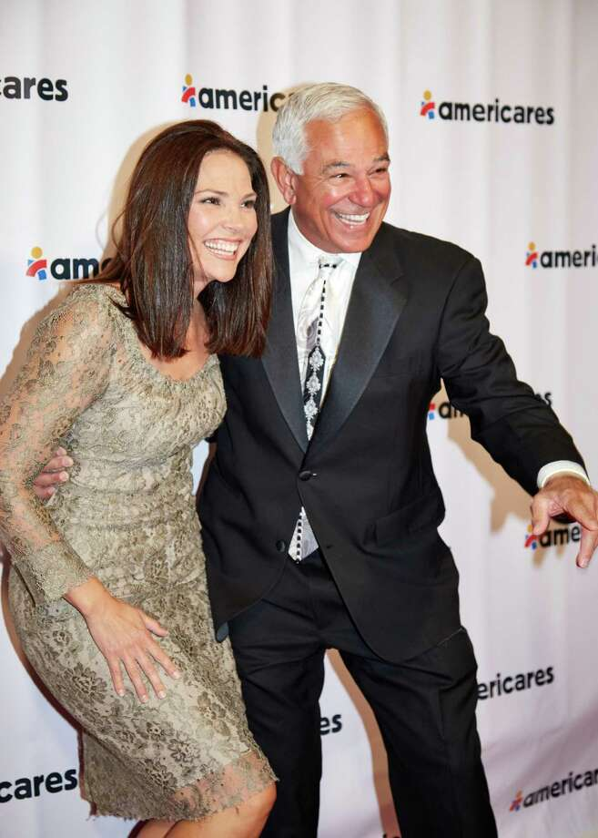 "Erica Hill, host of HLN's ""On the Story with Erica Hill,"" and Bobby Valentine at Americares' Airlift Benefit. Photo: Contributed Photo"