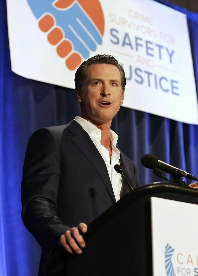 Lt. Gov. Gavin Newsom speaks at the Californians for Safety and Justice conference in Sacramento in April. Photo: Rich Pedroncelli, Associated Press
