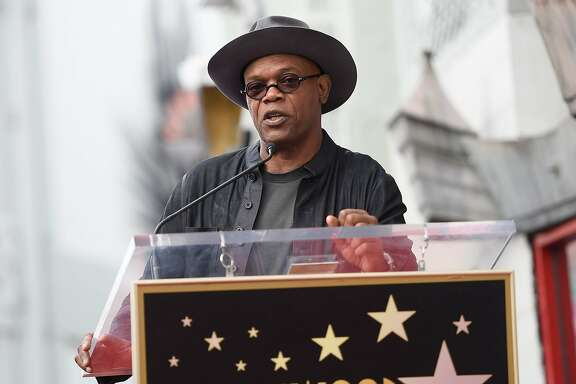 Actor Samuel L. Jackson attends the Hollywood Walk of Fame star unveiling honoring Quentin Tarantino, in Hollywood, California, on December 21, 2015. AFP PHOTO /ANGELA WEISSANGELA WEISS/AFP/Getty Images