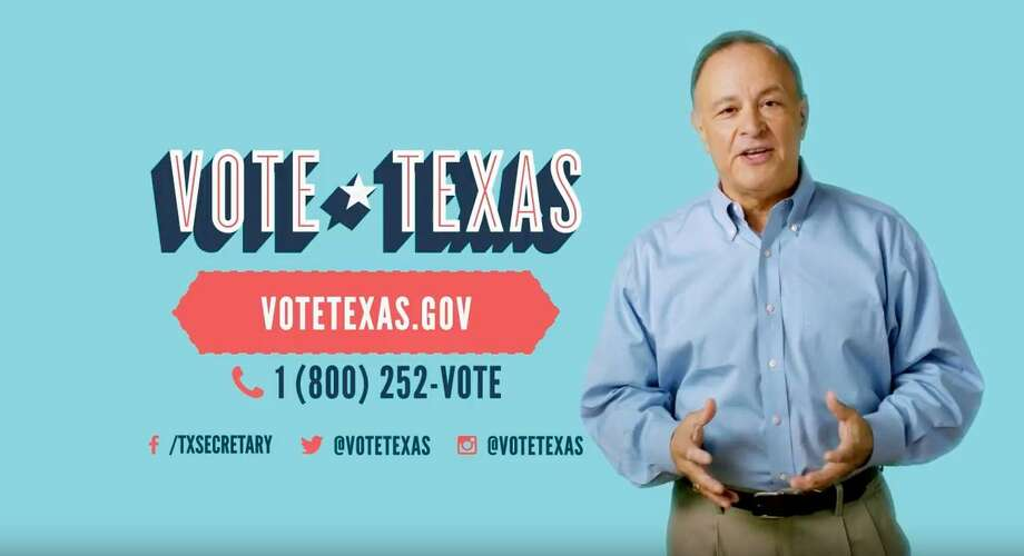 "A screen grab taken from a new television ad called Vote Texas. Texas Secretary of State Carlos Cascos declares: ""It's voting season in Texas."" The 30-second spot is supposed to serve as an explainer for Texans to become familiar with new court-ordered voter ID requirements."