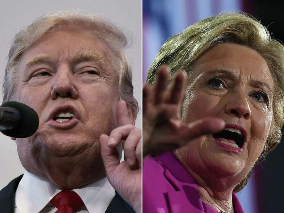 With only days to go until Election Day, Hillary Clinton and Donald Trump were barnstorming battleground states. (AFP/Getty Images) Photo: MANDEL NGAN, Staff / AFP