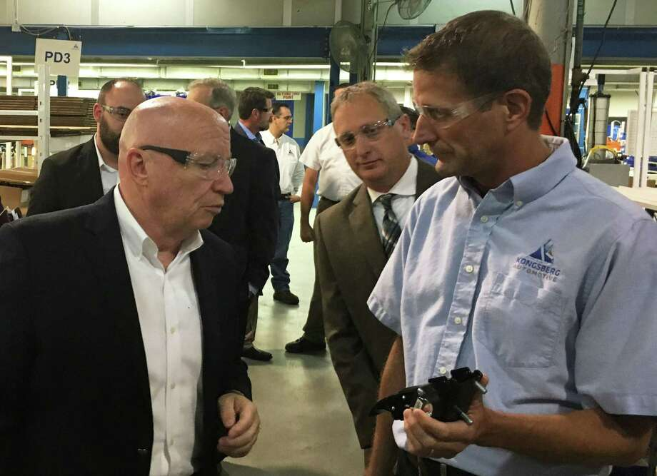 U.S. Rep. Kevin Brady, R-The Woodlands toured the Kongsberg Automotive Plant in Willis Thursday before discussing a tax reform proposal during a town hall meeting with the employees. Photo: Meagan Ellsworth
