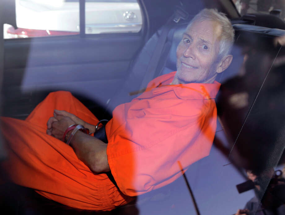 New York real estate heir Robert Durst smiles last year as he is transported from a New Orleans court to the Orleans Parish Prison. Photo: Gerald Herbert, STF / Copyright 2016 The Associated Press. All rights reserved.
