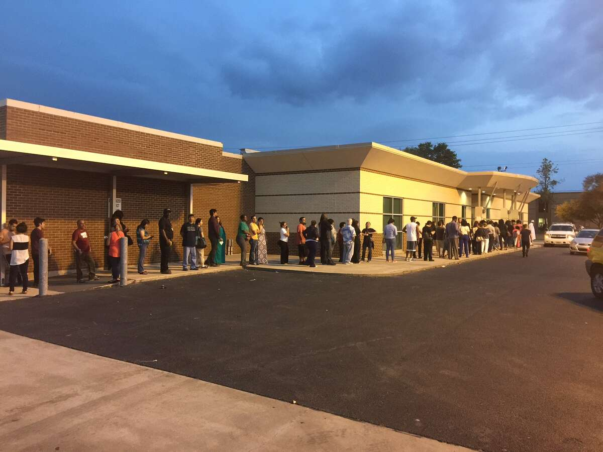Voters flocked to Alief ISD's administration building on Friday, the last day of early voting in Texas.