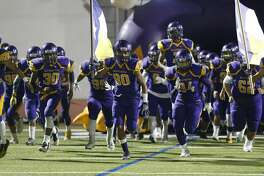 The Brackenridge football team takes the field against Highlands for their game at Alamo Stadium on Friday, Nov. 4, 2016. (Kin Man Hui/San Antonio Express-News)