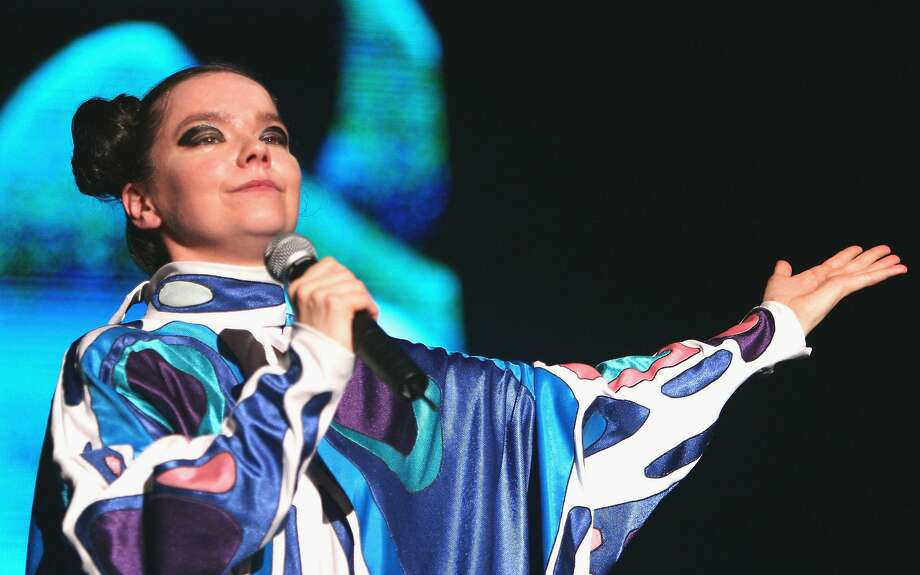 "Bjork performs on stage at ""Live 8 Japan"" at Makuhari Messe on July 2, 2005, in Chiba, east of Tokyo, Japan. Photo: Koichi Kamoshida, Getty Images"