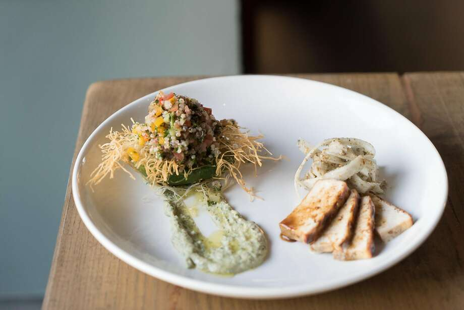 Stuffed avocado at Saha in Berkeley. Photo: James Tensuan, Special To The Chronicle
