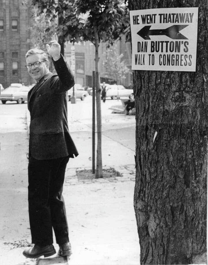 Daniel Button campaigns for Congress in 1966. (Courtesy Button family)