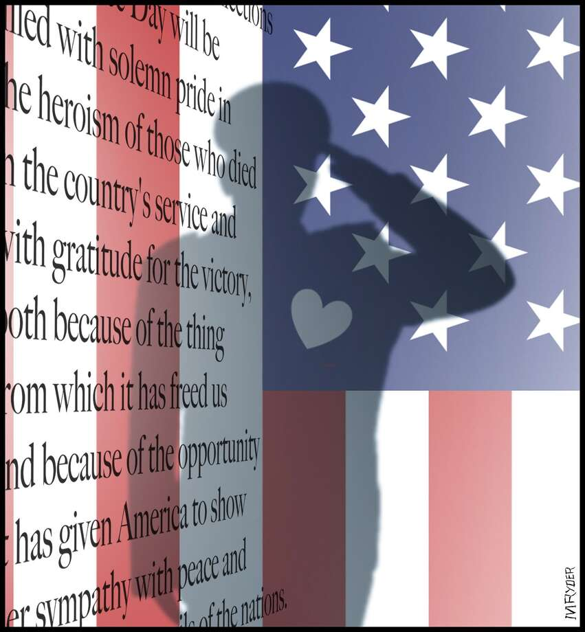 This artwork by M. Ryder relates to Veterans Day, Nov. 11.