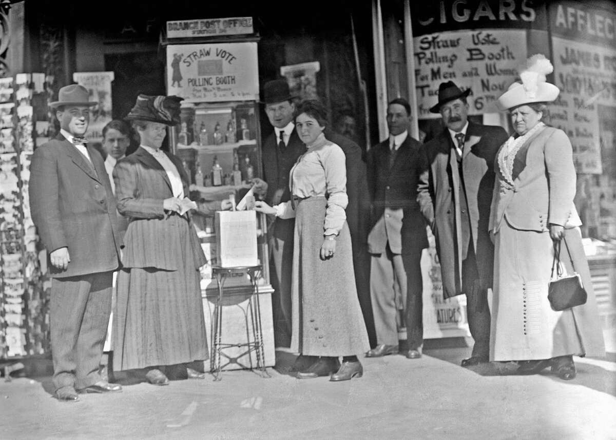 District of Columbia, USA. Women voting for the first time in 1920.