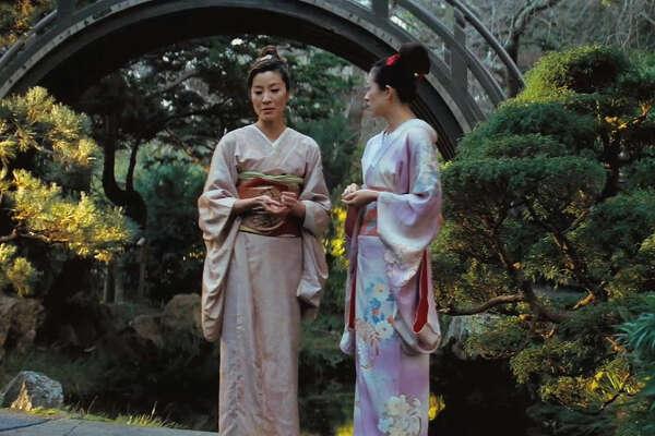 A screenshot from Memoirs of a Geisha.