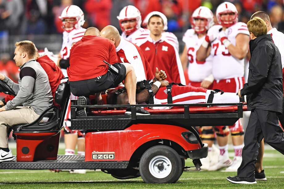 COLUMBUS, OH - NOVEMBER 5:  Tommy Armstrong Jr. #4 of the Nebraska Cornhuskers gives the thumbs up as he is carted off in the second quarter after being injured against the Ohio State Buckeyes at Ohio Stadium on November 5, 2016 in Columbus, Ohio.  (Photo by Jamie Sabau/Getty Images) Photo: Jamie Sabau/Getty Images