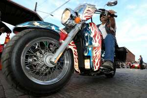 More than 10,000 bikers gather together to celebrate the annual Lone Star Rally Saturday, Nov. 5, 2016, in Galveston. (Yi-Chin Lee / Houston Chronicle )