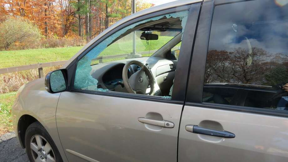 Several vehicles were broken into in the parking lot of the Bethlehem YMCA on Sunday morning, Nov. 6, 2016. Police are looking for a suspect. (Photo by Thomas Heffernan Sr.) Photo: Picasa